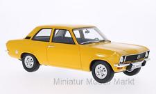 #015 - bos Opel Ascona A-oscuro-amarillo - 2-puertas - 1973 - 1:18