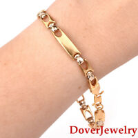 Italian 18K Yellow Gold Link Bracelet 8.3 Grams NR