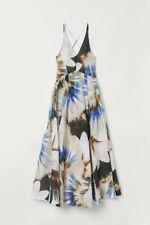 H&M Consciente de Seda mezcla exclusiva Patrón Floral Vestido Talla 6 BNWT