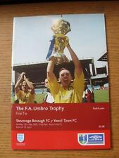 12/05/2002 FA Trophy Final: Stevenage Borough v Yeovil Town [At Aston Villa] (No