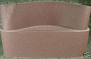 "5pc 6"" X 48"" 36 GRIT SANDING BELT USA made Butt Joint Heavy Duty sand paper new"