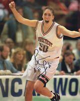 REBECCA LOBO SIGNED NEW YORK LIBERTY WNBA BASKETBALL  8X10 PHOTO
