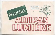 Buvard - Pellicule ALTIPAN Lumière. Photographe. (réf. 67/3)
