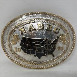VTG NIP Award Design Medals Silversmith NABBC 1991 United States Belt Buckle
