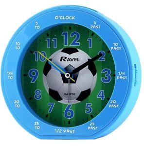 alarm clock boys football blue quartz by Ravel time teacher