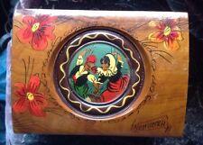 Vintage Wooden Reuge Clockwork Musical Cigarette/Jewellery Box