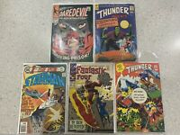 5x Comic Book - Daredevil 38 StarMan 12 Fantastic Four 69 Thunder Agents 9 & 19