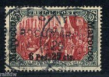 DP Marokko 6 P 25 C Reichspost Plattenfehler Michel 19 II/II PF I Attest (S7876)