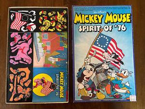 Disney MICKEY MOUSE Spirit of 76 Play Set #598 Colorforms Vintage 1976 Unused