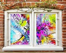 3D Color Art I240 Window Film Print Sticker Cling Stained Glass UV Block Amy
