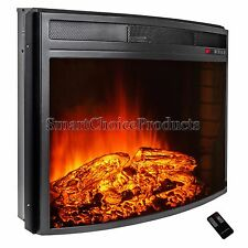 28 in. Freestanding Electric Fireplace Insert Heater with Remote Control