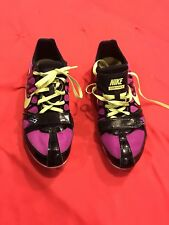 Nike Zoom Rival S Ladies Track Shoes (spikes) Size 8.5 Purple Yellow And Black