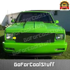 For 1982-1990 GMC S15 / Jimmy Chevy S-10 / Blazer S10 Black Steel Billet Grille