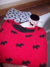Red Scottie Dog Sweater Plus Size 2X-3X  Russ Mug Sleeping shorts 22W 24W 26 20W