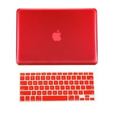 "2 in 1 RED Crystal Hard Case Cover for Macbook PRO 13"" A1278 with Keyboard Cover"