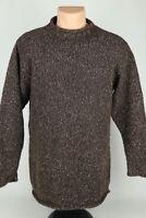 Vintage Woolrich Womens Medium Wool/Silk Roll Neck Knit Sweater In Sable Brown