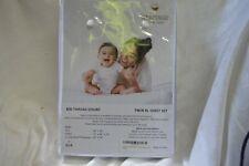 Audley Home 100% Egyptian Cotton 800TC 3 Piece TWIN XL Sheet Set WHITE STRIPE