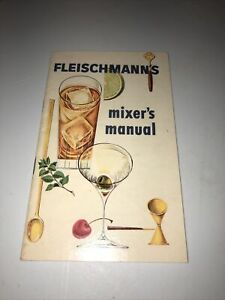 Fleischmann's Mixer's Manual Vintage Cocktail Book Recipes Guide Bar Mixology