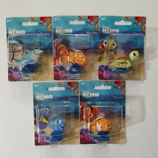 Disney Finding Nemo- Dory, Nemo, Bruce, Marlin And Squirt Mini Figures