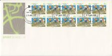 1989 41c Cycling Imperf between stamps on FDC Very Rare