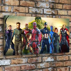 "12""x28""Avengers Fox Marvel HD Print on Canvas Home Decor Room Wall Art Picture"