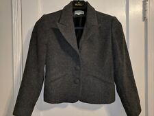 Jordan & Cole Petite Women's Solid Gray Buttoned Cropped Coat - size Small