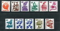 GERMANY BERLIN 1971-73 Definitives ACCIDENT PREVENTION MNH Set 11 Stamps