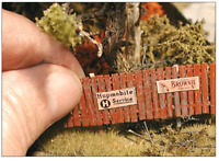 BAR MILLS 42 HO INSTA FENCE WOOD FENCING 160 Scale Feet Model Railroad FREE SHIP