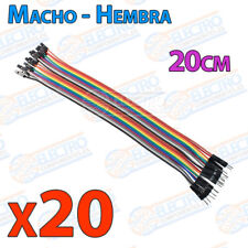 20 Cables 20cm Macho Hembra jumper dupont 2,54 arduino protoboar cable