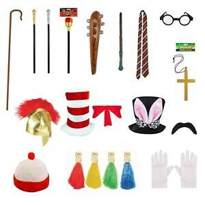 Kids Fancy Dress Accessories Wands Glasses Hats Moustache Sceptre Crook NEW