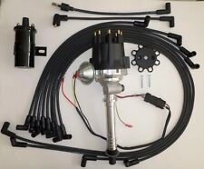 Small Cap CHEVY CORVETTE Tach Drive BLACK HEI Distributor +45k Coil +wires under