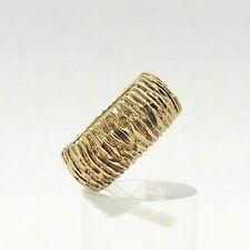 Vintage Solid 14K Gold Modernist Brutalist Bark Finish Wedding Band Ring 5 grams