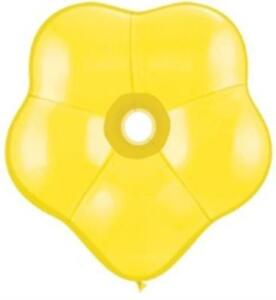 Flower Shaped Balloons Yellow Blossom  geo - 10 Balloons - Free post