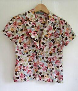 ALANNAH HILL 100% Silk 40s Style Designer Blouse Size 10        AG281 OR