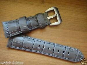 12cm/7.5cm Big size Genuine Leather Band Strap bracelet gray (fits) Panerai