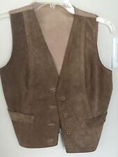 Leather Suede Women'S vintage Vest Small S men or women
