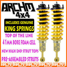 TOYOTA HILUX 2005-ON FRONT LIFT KIT ARCHM4x4 FOAM CELL STRUTS + KING SPRINGS