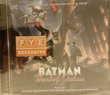 BATMAN & HARLEY QUINN animated movie SOUNDTRACK cd EXCLUSIVE dc universe fye NU*