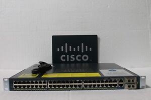 Cisco WS-C4948-10GE-S 48 Port Gigabit +10GB Switch w/ Dual AC 15.0 OS