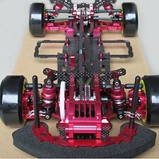 Red Alloy & Carbon Sakura D3 CS 3R OP RC 1:10 4WD Drift Racing Car Frame Kit