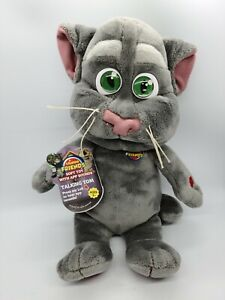 "Talking Tom 11"" Plush Cat 2012 Excellent Shape Pre-owned with Tags Works"