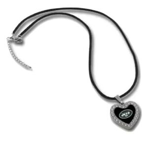 New York Jets Heart Pendant Crystal Necklace Choker Touch By Alyssa Milano NFL