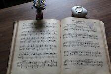 10 sehr alte Notenblätter Notenschrift Basteln Nostalgie Deko Vintage Chabby