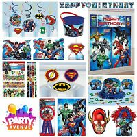 DC Justice League Tableware Party Decorations Foil Balloons Scene Setters