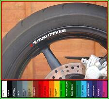 8x SUZUKI GS500E Wheel Rim Stickers Decals - colour choice - gs500 500e gs 500 e
