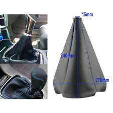 Car Black Blue Leather Stitch Manual/Auto Gear Shift Knob Shifter Boot Cover  ss