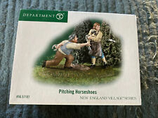 Dept 56 New England Village Pitching Horseshoes