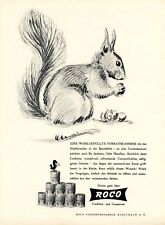 Roco Cans and Jam Rorschach Swiss 1947 ad Switzerland advertising squirrel nut