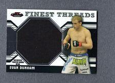 2011 Finest UFC Finest Threads Jumbo Fighter Relics Evan Dunham UFC 064