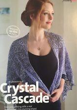 KNITTING PATTERN Ladies Elegant Lace Shawl Wrap Eyelet Design Pointed Trim
